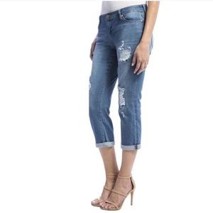 Liverpool Corey Cropped blue skinny jeans NWT